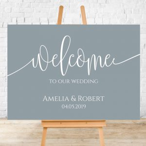 Amelia Welcome Wedding Sign