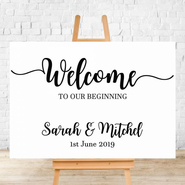 Elanor Wedding Welcome Sign