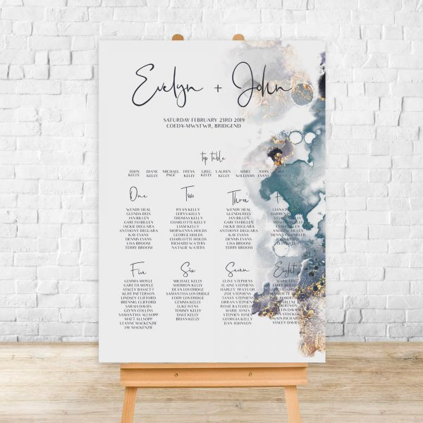 Metallic Table Plan