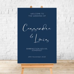 Cassandra Welcome Wedding Sign