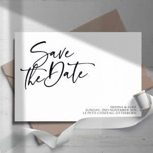 Sienna Script Save The Date Cards