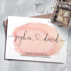 Sophia Watercolour Save The Date Cards